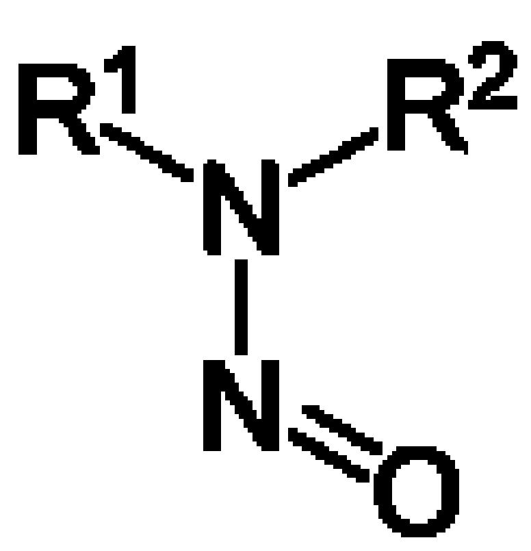 Resultado de imagen de nitrosamina estructura